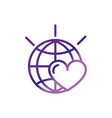 world love heart campaign charity help donation vector image