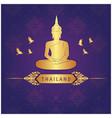 thailand buddha statue bird thai design purple bac vector image