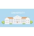 University or college building Campus design vector image