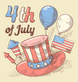 4th of july united states independence day vector image