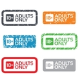 18 years old sign Adults content only vector image