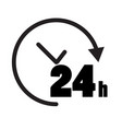 24 hours icon on white background open 24 hours vector image vector image