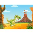 A cute tyrannosaurus character vector image vector image