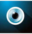 Abstract Blue Eye on Dark Blue Background