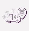 ambulance and medical design vector image vector image