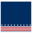 american flag symbols border background vector image vector image