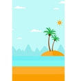 Background of small tropical island vector image vector image