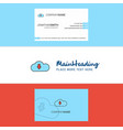 beautiful downloading logo and business card vector image vector image