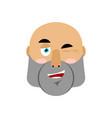 brutal man winks emoji men face happy emotion vector image vector image