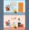 business room of businessman client and boss vector image vector image