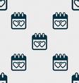 Calendar heart Valentines day February 14 Love vector image