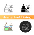 candles and candle holders icon vector image