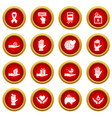 charity icon red circle set vector image vector image