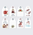 christmas and new year greeting gift tags vector image