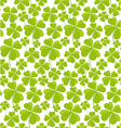 Clovers seamless pattern St Patricks Day vector image