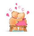 couple of bears sitting love vector image
