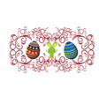 easter background with traditional decorations vector image vector image