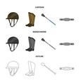 equipment and riding icon vector image vector image