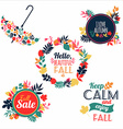 Fall set Medal and leaves composition vector image vector image