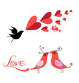 festive valentines with birds in love vector image