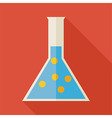 Flat Education and Science Chemistry Flask with vector image