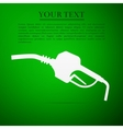 Gasoline pump nozzle sign Gas station flat icon vector image vector image