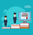 global distance education vector image vector image