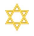 Golden hexagram icon vector image vector image