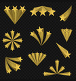 golden star signs vector image