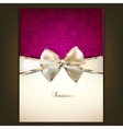 Greeting card with white bow and copy space vector | Price: 1 Credit (USD $1)
