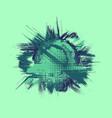 grunge blue circle frame background vector image vector image