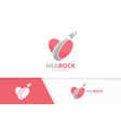 heart and rocket logo combination love and vector image vector image