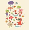 joyful autumn vector image vector image