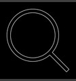 magnifying glass or loupe the white path icon vector image vector image
