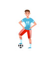 male soccer player professional sportsman vector image