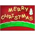 merry christmas comics vector image vector image