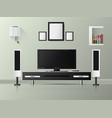 minimalist modern white tv shelf with books and vector image vector image
