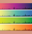moscow multiple color gradient skyline banner vector image vector image