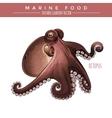Octopus Marine Food vector image vector image