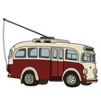 old trolley bus vector image