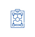 organizational structure line icon concept vector image vector image