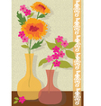 pink and orange flowers vector image vector image
