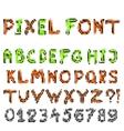 pixel game font vector image vector image