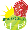 Rise And Shine vector image vector image