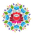 russian inspired folk art pattern - colorful vector image vector image