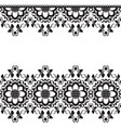 seamless indian mehndi border element with vector image vector image