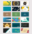 set of creative business card bundle design vector image