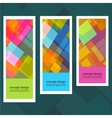 Set of creative stickers with colored squares vector image vector image