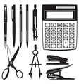 set of school and office supplies vector image
