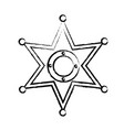 sheriff star icon image vector image vector image